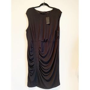 Eloquii Black Plus Size Dress Side Ruched